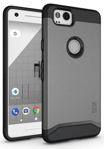 TUDIA Slim-Fit HEAVY DUTY [MERGE] EXTREME Protection / Rugged but Slim Dual Layer Case for Google Pixel 2 (2017)