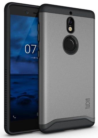 TUDIA Slim-Fit HEAVY DUTY [MERGE] EXTREME Protection / Rugged but Slim Dual Layer Case for Nokia 7