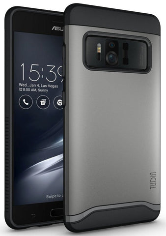 TUDIA Slim-Fit HEAVY DUTY [MERGE] EXTREME Protection / Rugged but Slim Dual Layer Case for Asus ZenFone AR (ZS571KL)