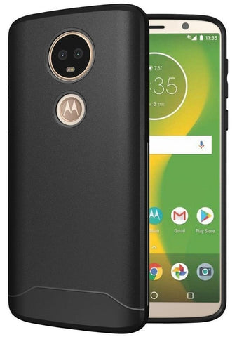 TUDIA Full-Matte Lightweight [ARCH S] TPU Bumper Shock Absorption Cover for Motorola Moto E5 Plus