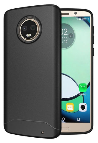 TUDIA Full-Matte Lightweight [ARCH S] TPU Bumper Shock Absorption Cover for Motorola Moto G6 Plus