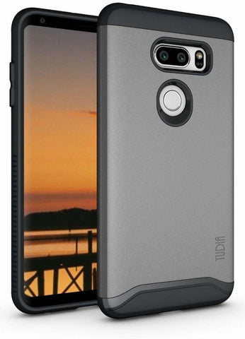 TUDIA MERGE Case with Heavy Duty Extreme Protection/Rugged but Slim Dual Layer Shock Absorption Case for LG V35 ThinQ