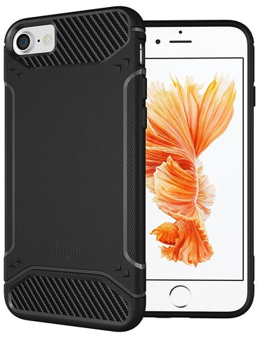 TUDIA Ultra Slim Carbon Fiber Design Lightweight [TAMM] TPU Bumper Shock Absorption Case for Apple iPhone 7 / iPhone 8