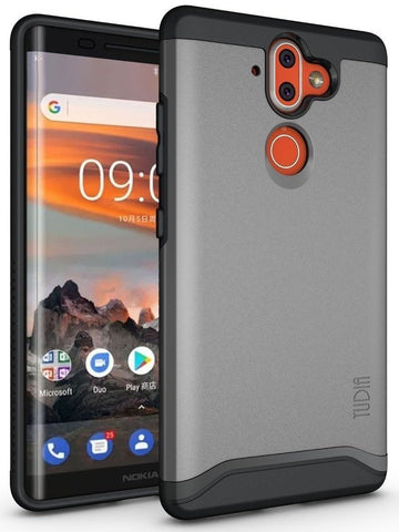 TUDIA Slim-Fit HEAVY DUTY [MERGE] EXTREME Protection / Rugged but Slim Dual Layer Case for Nokia 9
