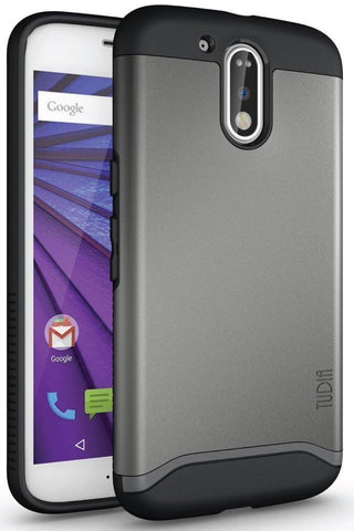 TUDIA Slim-Fit HEAVY DUTY [MERGE] EXTREME Protection / Rugged but Slim Dual Layer Case for Motorola Moto G4 / G4 Plus