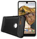 TUDIA Carbon Fiber Design Lightweight [TAMM] TPU Bumper Shock Absorption Cover for Essential Phone PH-1