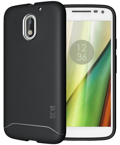 TUDIA Full-Matte Lightweight [ARCH] TPU Bumper Shock Absorption Case for Motorola Moto E (3rd Generation)
