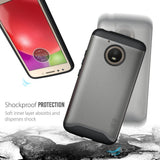TUDIA Slim-Fit HEAVY DUTY [MERGE] EXTREME Protection / Rugged but Slim Dual Layer Case for Motorola Moto E (4th Generation)