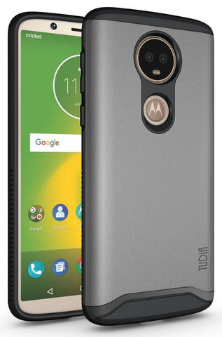 TUDIA Slim-Fit HEAVY DUTY [MERGE] EXTREME Protection / Rugged but Slim Dual Layer Case for Motorola Moto E5 Plus