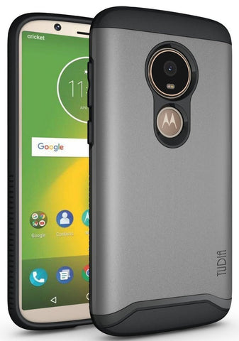 TUDIA Slim-Fit HEAVY DUTY [MERGE] EXTREME Protection / Rugged but Slim Dual Layer Case for Motorola Moto E5 Play