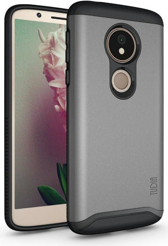 TUDIA Slim-Fit HEAVY DUTY [MERGE] EXTREME Protection/Rugged but Slim Dual Layer Case for Motorola Moto G6 Play