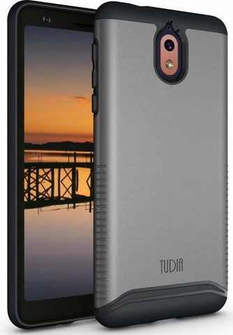 TUDIA [Merge Series] Dual Layer Heavy Duty Reinforced Military Standard Extreme Drop Protection/Rugged with Slim Camera Precise Cutouts Phone Case for Nokia 3.1