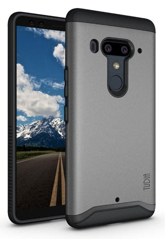 TUDA MERGE V2 Case with Heavy Duty Extreme Protection/Rugged but Slim Dual Layer Shock Absorption Case for HTC U12 Plus/HTC U12 + (2018)