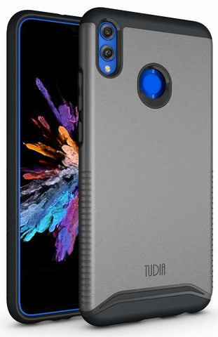 TUDIA [Merge Series] Dual Layer Heavy Duty Reinforced Military Standard Extreme Drop Protection/Rugged with Slim Camera Precise Cutouts Phone Case for Huawei Honor 8X