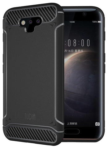 TUDIA Ultra Slim Carbon Fiber Design Lightweight [TAMM] TPU Bumper Shock Absorption Case for Huawei Honor Magic