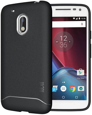 TUDIA Ultra Slim Full-Matte Lightweight [ARCH] TPU Bumper Shock Absorption Case for Motorola Moto G4 Play