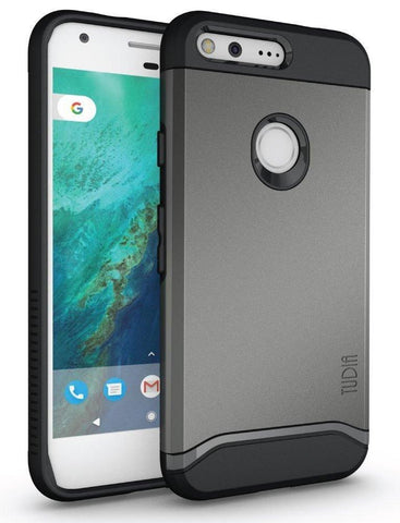 TUDIA Slim-Fit HEAVY DUTY [MERGE] EXTREME Protection / Rugged but Slim Dual Layer Case for Google Pixel