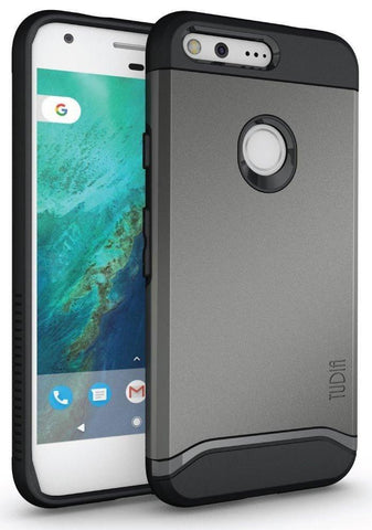 TUDIA Slim-Fit HEAVY DUTY [MERGE] EXTREME Protection / Rugged but Slim Dual Layer Case for Google Pixel XL