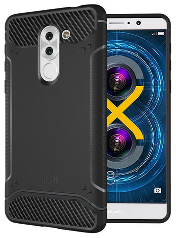 TUDIA Ultra Slim Carbon Fiber Design Lightweight [TAMM] TPU Bumper Shock Absorption Case for Huawei Honor 6X