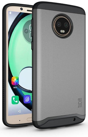 TUDIA Slim-Fit HEAVY DUTY [MERGE] EXTREME Protection / Rugged but Slim Dual Layer Case for Motorola Moto G6 Plus