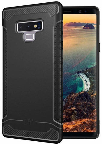TUDIA Carbon Fiber Design Lightweight [Linn] TPU Bumper Shock Absorption Cover Samsung Galaxy Note 9