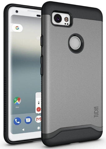 TUDIA Slim-Fit HEAVY DUTY [MERGE] EXTREME Protection / Rugged but Slim Dual Layer Case for Google Pixel 2 XL (2017)