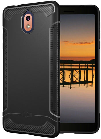 Carbon Fiber Grip LINN Case for Nokia 3.1