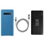Samsung Galaxy S10 Plus Smooth Silicone Case & Charging Combo Pack