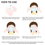 Kid's Disposable 3-Layer Protective Face Mask