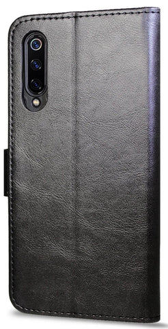 Leather Flip Wallet Case for Xiaomi Mi 9