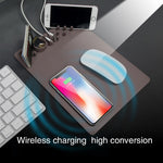 Wireless Charging Mouse Pad Multifunction