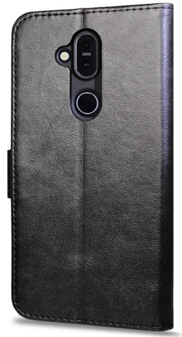 Leather Flip Wallet Case for Nokia 8.1