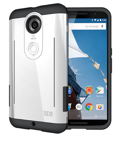 Rugged Dual Layer RYFT Google Nexus 6 Case with Kickstand Feature