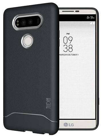 TUDIA Ultra Slim Full-Matte Lightweight [ARCH] TPU Bumper Shock Absorption Case for LG V20