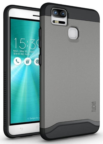 TUDIA Slim-Fit HEAVY DUTY [MERGE] EXTREME Protection / Rugged but Slim Dual Layer Case for Asus ZenFone 3 Zoom (ZE553KL)