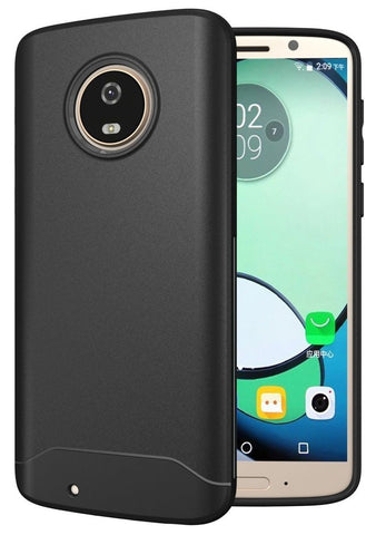 TUDIA Full-Matte Lightweight [ARCH S] TPU Bumper Shock Absorption Cover for Motorola Moto G6
