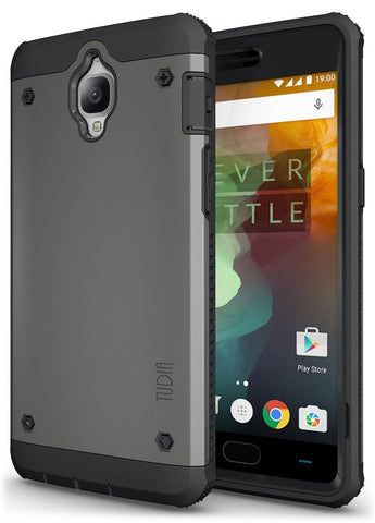 TUDIA Ultra Tough OMNIX [Heavy Duty] Hybrid [Full-body] Protective Case with Front Cover and Built-in Screen Protector / Impact Resistant Bumpers Cover for OnePlus 3  / 3t