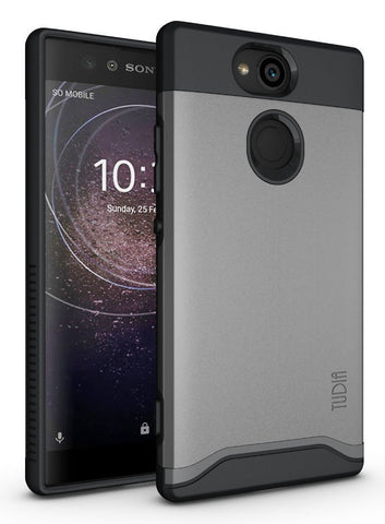 TUDIA Slim-Fit HEAVY DUTY [MERGE] EXTREME Protection / Rugged but Slim Dual Layer Case for Sony Xperia XA2