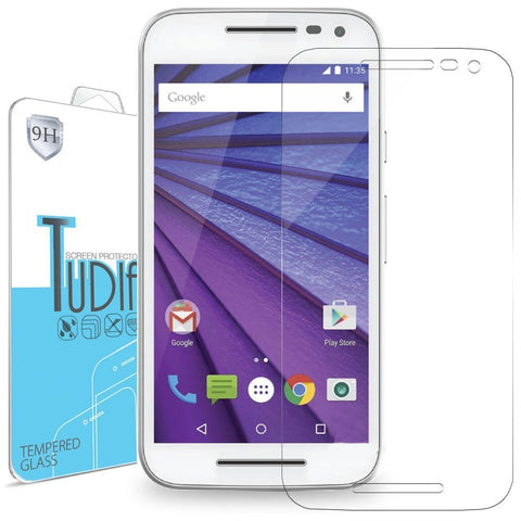 Premium Quality HD Ultra Clear Tempered Glass Screen Protector for Motorola Moto G 3rd Gen (2015)