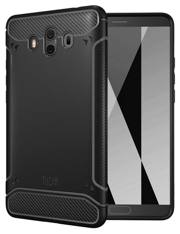 TUDIA Carbon Fiber Design Lightweight [TAMM] TPU Bumper Shock Absorption Cover for Huawei Mate 10