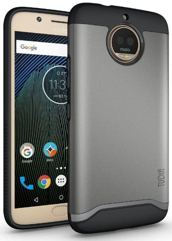 TUDIA Slim-Fit HEAVY DUTY [MERGE] EXTREME Protection / Rugged but Slim Dual Layer Case for Motorola Moto G5S Plus