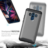 TUDIA Slim-Fit HEAVY DUTY [MERGE] EXTREME Protection / Rugged but Slim Dual Layer Case for Huawei Mate 10 Pro