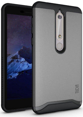 TUDIA MERGE Case with Heavy Duty Extreme Protection/Rugged but Slim Dual Layer Shock Absorption Case for Nokia 6.1 (2018)