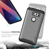 TUDIA Slim-Fit HEAVY DUTY [MERGE] EXTREME Protection / Rugged but Slim Dual Layer Case for LG V30
