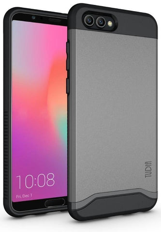TUDIA Slim-Fit HEAVY DUTY [MERGE] EXTREME Protection / Rugged but Slim Dual Layer Case for Huawei Honor View 10