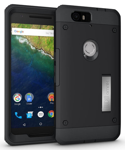 TUDIA Ultra Tough OMNIX [Heavy Duty] Hybrid Full-body Protective Case with Front Cover and Built-in Screen Protector/Impact Resistant Bumpers Cover for Google Nexus 6P