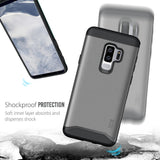 TUDIA Slim-Fit HEAVY DUTY [MERGE] EXTREME Protection / Rugged but Slim Dual Layer Case for Samsung Galaxy S9 Plus / S9+