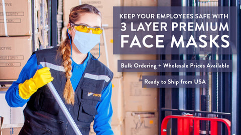 Disposable 3-Layer Protective Face Mask - Wholesale Ordering