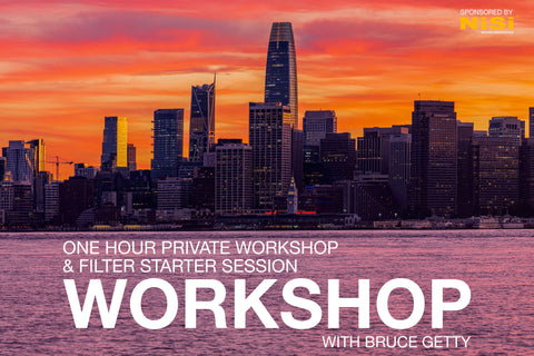 NiSi Filter Starter Session (Sunrise or Sunset) 1 hour Private Workshop at Treasure Island