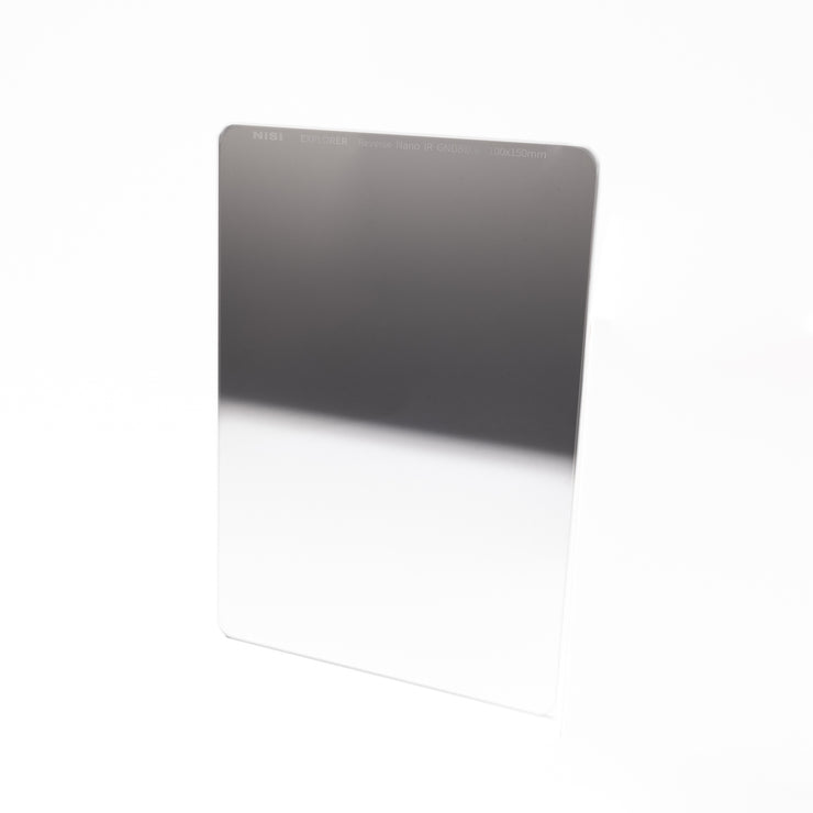 NiSi Explorer Collection 100x150mm Nano IR Reverse Graduated Neutral Density Filter - GND8 (0.9) - 3 Stop